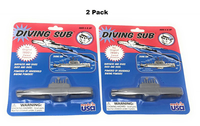 2 Pack Original 1950 Cereal Premium Toy Baking Powder Diving Sub Soda Submarine