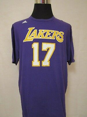 NBA Los Angeles Lakers #17 2XL 2013 Net Number Printed Cotton Tee by Adidas