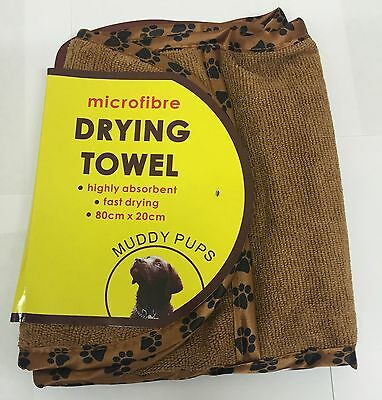 Muddy Pups Pet Large Luxury Microfibre Drying Towel Dog / Cat Washing Bath Sale