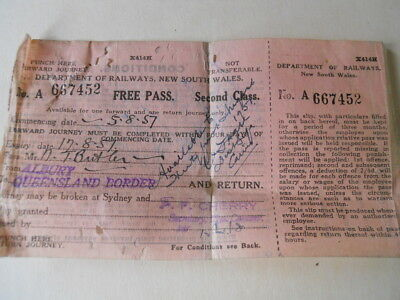 Old Railway Ticket From New South Wales