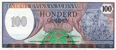 central bank of suriname 100 gulden