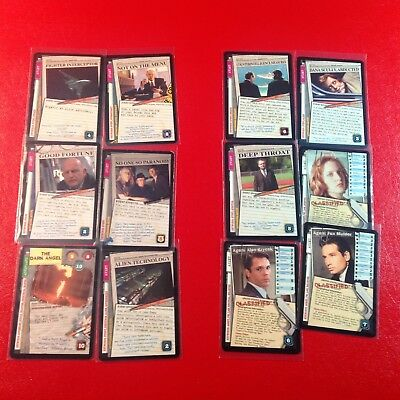 X-Files - Ccg - 6 Ultra Rares From The Premier Set & 6 Promos