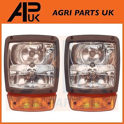 PAIR of JCB Telehandler Loader Loadall Headlights Head Light Headlamps Indicator