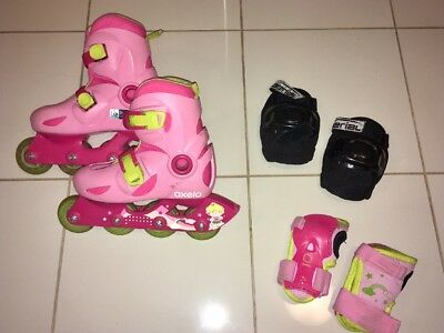 Girls rollerblades skates set