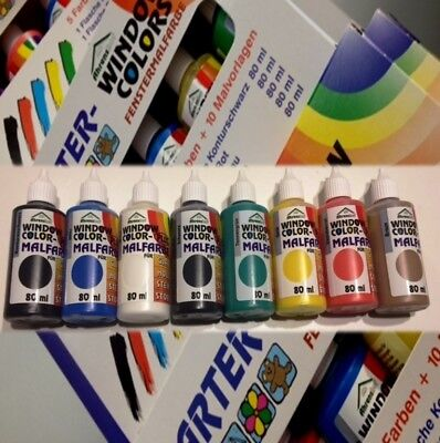Ahrenshof ORIGINAL Window Color Farben 80ml  8er Starter Set
