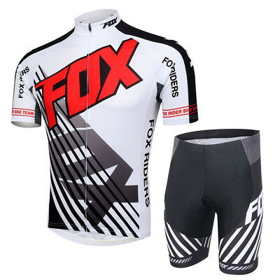 Men Cycling Jersey Comfortable Bike Bicycle jersey Pants suit WHITE