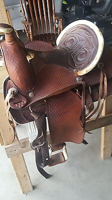 Vintage Custom made Buffalo Roping saddle 1900 16