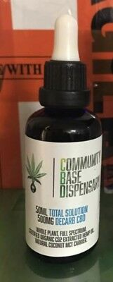 CBD Hemp Oil 500mg CBD Whole Plant Full Spectrum Certified Organic.