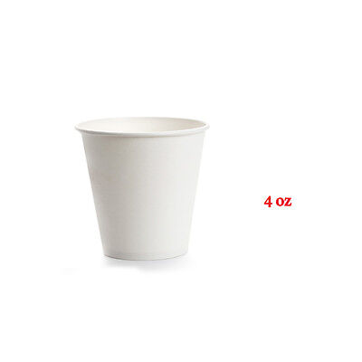 200Pc 4 oz Disposable White Single Wall Paper Coffee Cups Party cups Bulk Buy