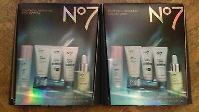No7 YOUTHFUL SKINCARE COLLECTION CHRISTMAS 2x GIFT SETS BRAND NEW