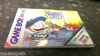 Rugrats In Paris : The Movie (Game Boy Color) - MANUAL ONLY(no game) FREE P&P