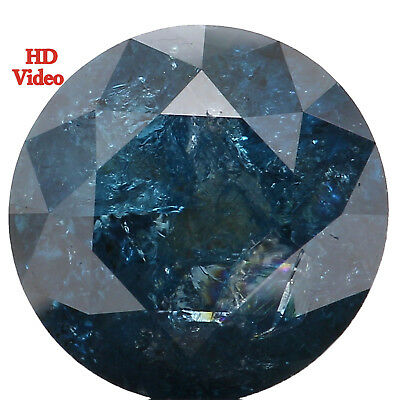 7.00 MM 1.42 Ct Natural Loose Diamond Cut Round Shape Blue Color i3 Clarity L547
