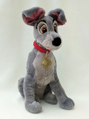 Lady And The Tramp Dog Scamp Disney Store Plush Soft Toy Cuddly Teddy 37cm