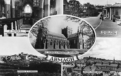 ARMAGH IRELAND RP POSTCARD by VALENTINES R3469 POSTED 21-JULY-1964