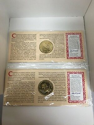First Vovage Of Columbus Coins Both For One Money (Qty 2 - In This Lot)