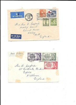 Two covers from Australia. One with 1953 Coronation set of 3 values.