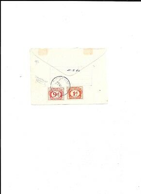 Two used Postal Charge stamps from Papua & New Guinea, postmarked 1962.