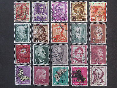 Switzerland Pro Juventute And Pro Patria Collection - 4 Pages