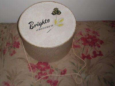 Lovely Vintage 50's BRIGHT'S of BOURNEMOUTH, HAT BOX. Display/storage