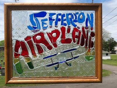Jefferson Airplane Band Art Stained Glass Window Art Sun Catcher