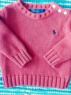 Polo, Ralph Lauren Baby Boys Size 12 Months Red Long Sleeve Sweater