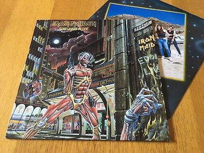 Iron Maiden - Somewhere In Time - 1986 Lp With Inner Sleeve Vg Lots More Metal!!