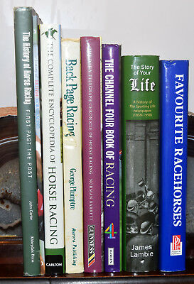Collection Of  Horse Racing Books With Historical Content (8 Books)
