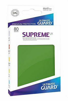 Ultimate Guard - Supreme UX Sleeves Standard Green 80 Pieces Card Sleeves