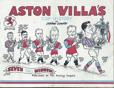 Aston Villa's Cup History - FA Cup history in cartoon format from 1887 to 1957