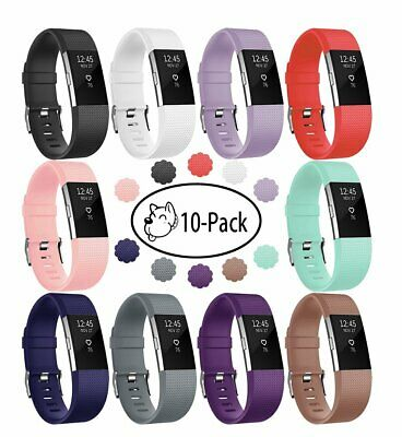 Fitbit Charge 2 Silicone Fitness Wristband Strap Replacement Bands Large 3 Pack