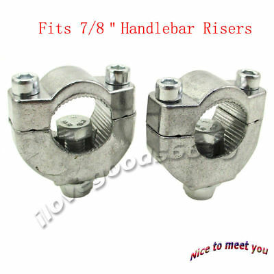 "7/8"" Handlebar Bar Risers Mount Bracket Clamp Taper 47cc 49cc MiniMoto Dirt Bike"