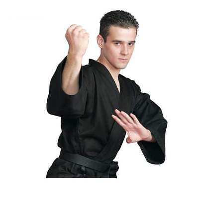 Karate Uniform Martial Arts Gi BLACK All Sizes HIGH QUALITY 8oz Free WHITE Belt