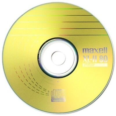 Maxell CD-R 80 Mins XL-II Digital Audio Recordable Blank Discs - 10 Pack Spindle