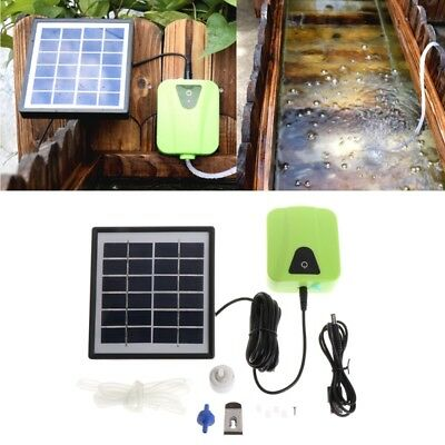 Aquarium Fish Tank Solar Powered Charging Air Pump Oxygen Aerator