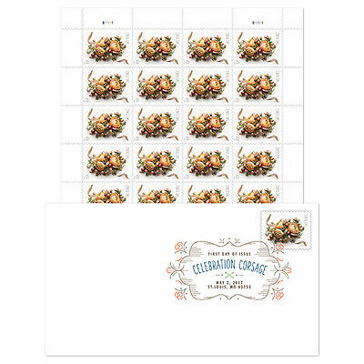 USPS New Celebration Corsage Keepsake with Digital Color Postmark