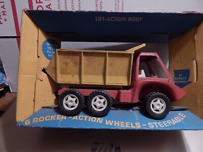 Vintage Hubley Steerable Hyside Dump Truck with Original Box