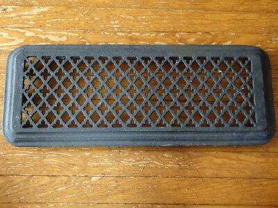 "Antique Victorian Heat Grate Gothic Pattern Vent Old Vintage 25 x 9 1/2"" Tiered"