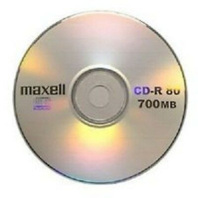 Maxell CD-R 52x 700MB Blank CDs 10 pack sleeved Media Disks