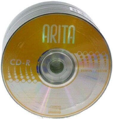 Arita Gold Blank CD-R 52x CD Discs 700MB 80 mins Made by Ritek 5 discs sleeved