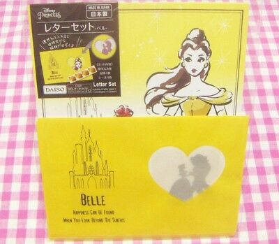 Disney Princess Belle Letter Set / Made in Japan DAISO Stationery