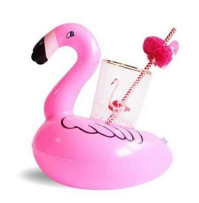 X1 Inflatable Flamingo Float Water Bottle Drink Cup Holder Beverage Boat Pool A