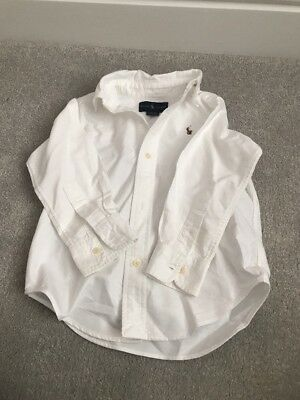 Ralph Lauren White Long Sleeved Shirt Size Age 2 Years 18-24 Months