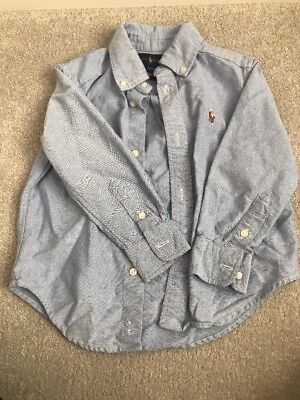 Ralph Lauren Blue Long Sleeved Shirt Size Age 2 Years 18-24 Months