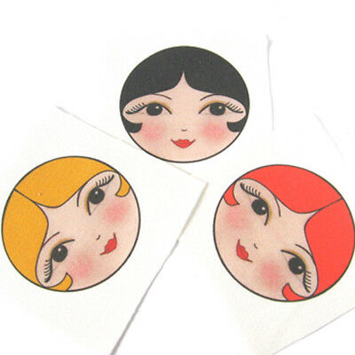 Doll Making Supplies Set of 3 sew in cloth doll faces