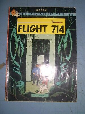 Tintin Flight 714 1978 Methuen Softback