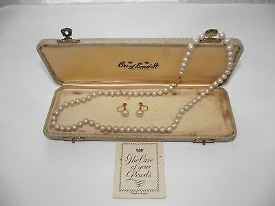 Ciro Cultured Pearl Necklace & Earring Set, 9Ct Gold Ingot Clasp - C1930's,