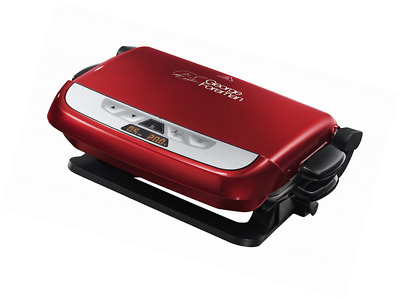 George Foreman Evolve Family 5-Portion Grill with Omelette Plates - Red