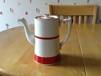 Sadler Kleen Ware Coffee Pot Red and white 1950's