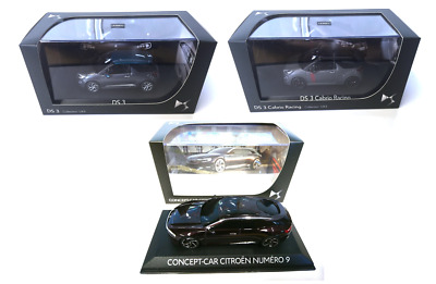 Lot De 3 Citroën 1/43 - Ds3 Concept Car - Norev Voiture Model Car Diecast