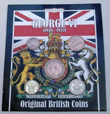 George VI (1936-1952) Coin Collection - Original British Coin Set